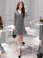 Seoul Secret Say's... Scotty V White Collar Dress