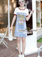 Seoul Secret Say's... Mr. Duck Steps Out Denim Dress
