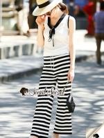 เสื้อผ้าแฟชั่นเกาหลี Seoul Secret Say's... Stripe Bundle Waisty Chic Set