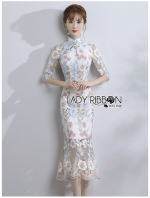 เสื้อผ้าแฟชั่นเกาหลี Lady Ribbon Thailand Lady Ribbon's Made Lady Hanna Chinese Style Pastel Lace Dress