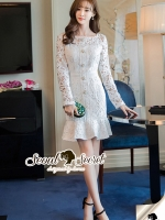 Seoul Secret Say's... Princess Ladiest Ivory Lace Dress