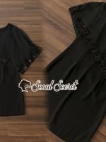 เสื้อผ้าแฟชั่นเกาหลี Seoul Secret Say's....Fashion Style Classic Black&Red Dress