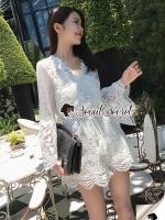 Seoul Secret Say's... Lola Flora Love Lace Jumpsuit