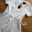 Lady Ribbon Korea Dressเสื้อผ้า LR13010816 &#x1F380 Lady Ribbon's Made &#x1F380 Lady Diana Feminine Pure White Lace and Polyester Dress เดรสผ้าโพลี thumbnail 7