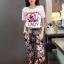 Lady Ribbon's Made &#x1F380 Chanel Vivid Floral Printed T-Shirt and Floral Printed Slouchy Pants Korea Set thumbnail 8