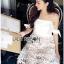 Lady Ribbon Korea Mini Dress LR18270616 &#x1F380 Lady Ribbon's Made &#x1F380 Lady Maria Sweet Sexy Stripy Ribbon Lace Dress thumbnail 2