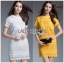 Lady Ribbon's Made &#x1F380 Lady Blooming Classic Lace Dress in White เดรส thumbnail 1