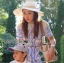 Lady Ribbon Korea Mini Dress LR10160616 &#x1F380 Lady Ribbon's Made &#x1F380 Lady Mini Dress Natalie Summery Sweet Vintage Blue and White Dress เดรสสีขาว thumbnail 2