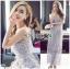 Lady Ribbon&#x1F380 Lady Ribbon's Made &#x1F380 Self-Portrait Arabella Midi Dress in Smoked Lilac thumbnail 3