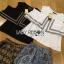 Lady Ribbon เสื้อผ้าเกาหลี LR15140616 &#x1F380 Lady Ribbon's Made &#x1F380 Lady Florence Hippie Chic Jersey Cropped Top and Printed Shorts with Tassels เซ็ตเสื้อคร็อป thumbnail 6