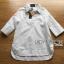 Dress Lady Ribbon Korea Cotton Long Dress Shirt เดรสเชิ้ต thumbnail 6