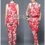 Lady Ribbon Korea LB06160516 &#x1F380 Lady Ribbon's Made &#x1F380 Lady Kimberley Korea Spring Red Floral Printed Collared Top and Pants Set thumbnail 2