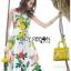 Lady Ribbon Korea's Made &#x1F380 Lady Rosie English Roses Printed White Sleeveless Dress thumbnail 4