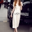 Lady Ribbon Dress LR07120516 &#x1F380 Lady Ribbon's Made &#x1F380 Lady Kiera Smart Chic Lace Dress Denim Jumpsuit in White thumbnail 2