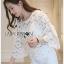 Lady Ribbon Dress Lady Ribbon Korea LR20190516 &#x1F380 Lady Ribbon's Made &#x1F380 Lady Stephanie Little Sunshine White and Yellow Floral Cropped Top ลูกไม้ thumbnail 3