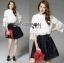 Lady Ribbon's Made &#x1F380 Lady Cara Feminine Flare-Sleeve Lace Blouse Korea Dress thumbnail 9