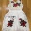 Lady Ribbon Dress LR17300516 &#x1F380 Lady Ribbon's Made &#x1F380 Lady Nina Sweet Sexy 3D Red Roses Embroidered White Lace Dress เดรสผ้าลูกไม้ thumbnail 6