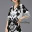 Lady Ribbon Korea Closet Dress SW 17060616 Sweet Bunny Present... Lattice Tie Black Floral Dress thumbnail 1