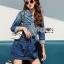 Lady Sarah Street Chic Denim Shirt Dress thumbnail 5