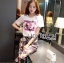 Lady Ribbon's Made &#x1F380 Chanel Vivid Floral Printed T-Shirt and Floral Printed Slouchy Pants Korea Set thumbnail 7