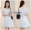 Lady Ribbon Korea Dressเสื้อผ้า LR13010816 &#x1F380 Lady Ribbon's Made &#x1F380 Lady Diana Feminine Pure White Lace and Polyester Dress เดรสผ้าโพลี thumbnail 1