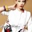 Lady Ribbon's Made &#x1F380 Lady Julianna Sassy Embellished Surreal Print Blouse thumbnail 7