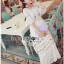 Lady Ribbon Korea Dressเสื้อผ้า LR22010816 &#x1F380 Lady Ribbon's Made &#x1F380 Lady Abigail Hippie Holiday Floral Embroidered Lace and Cotton Maxi Dress เดรสยาวผ้า thumbnail 5