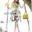 Lady Ribbon Korea's Made &#x1F380 Lady Rosie English Roses Printed White Sleeveless Dress thumbnail 5