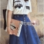 Lady Ribbon's Made &#x1F380 Lady Merium Art Surreal Eye Embroidered T-Shirt and Denim Skirt Set thumbnail 8
