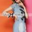 Lady Ribbon Korea LB11160516 &#x1F380 Lady Ribbon's Made &#x1F380 Lady Julia Horse Embellished Ripped Faded Denim Dress เดรส thumbnail 2