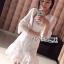 Lady Ribbon Dress LR03300516 &#x1F380 Lady Ribbon's Made &#x1F380 Lady Eva Classic White Polyester and Lace Ruffle Dress thumbnail 3