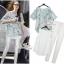 Closet Lady &#x1F49E&#x1F4ABSet chiffon shirt vest Parure model quality by Aris Code thumbnail 2