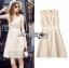 Lady Ribbon Korea Dressเสื้อผ้า LR16010816 &#x1F380 Lady Ribbon's Made &#x1F380 Lady Selena Classic Elegant Sleeveless White Mixed Lace Top เดรสผ้าลูกไม้แขนกุด thumbnail 6