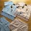 Lady Ribbon Korea Dress ผ้าลูกไม้ LR18230616 &#x1F380 Lady Ribbon's Made &#x1F380 Lady Stephanie Sweet Minimal Striped Cotton Cropped Top with Lace Trim and Pants thumbnail 4