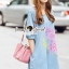 Lady Ribbon Korea Brand SS03300516 Seoul Secret Say's... Pastel Fink Paint Denim Dress thumbnail 4