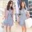 Lady Ribbon Korea Dress &#x1F380 Lady Ribbon's Made &#x1F380 Lady Ariana Sweet Feminine French Lace Dress in Light Blue เดรสผ้าลูกไม้ thumbnail 1