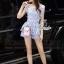 Lady Ribbon Korea Design LV08200616 &#x1F36DKorea Design By Lavida noble luxury pastel purple lace top short pants set thumbnail 2