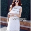 Lady Ribbon Korea เสื้อผ้าเกาหลี ของแท้พร้อมส่ง Lady Ribbon Dress LR08250716 &#x1F380 Lady Ribbon's Made &#x1F380 Lady Kate Sporty Sweet White Lace Dress เดรสผ้าลูกไม้ thumbnail 3