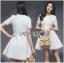 Lady Ribbon Korea Dressเสื้อผ้า LR13010816 &#x1F380 Lady Ribbon's Made &#x1F380 Lady Diana Feminine Pure White Lace and Polyester Dress เดรสผ้าโพลี thumbnail 2