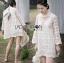 Lady Ribbon Korea LR07260516 &#x1F380 Lady Ribbon's Made &#x1F380 Lady Camilla Classic Feminine off- whiteLace Dress with Ribbon thumbnail 3