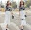 Lady Ribbon Korea Dress LR17060616 &#x1F380 Lady Ribbon's Made &#x1F380 Lady Alana Casual Chic Monochrome Printed Chiffon Jumpsuit จั thumbnail 1