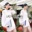 Lady Ribbon's Made &#x1F380 Lady Hive See-through Top Mini dress มินิเดรสแขนยาว thumbnail 2