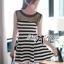 Lady Ribbon's Made &#x1F380 Lady Suzi Basic Chic Striped Mini Dress thumbnail 6