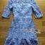 &#x1F380Lady Ribbon's Made &#x1F380Lady Ariana Sweet Feminine French Lace Dress in Light Blue thumbnail 7