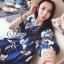 Brand Sevy Chilaxing Flower Fresh Blue Mini Dress thumbnail 2