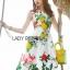 Lady Ribbon Korea's Made &#x1F380 Lady Rosie English Roses Printed White Sleeveless Dress thumbnail 7