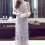 Lady Ribbon&#x1F380 Lady Ribbon's Made &#x1F380 Self-Portrait Arabella Midi Dress in Smoked Lilac thumbnail 5