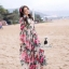Lady Ribbon Korea Closet LV02070616 &#x1F36DKorea Design By Lavida elegant feminine rose printing long sleeve maxi dress thumbnail 2