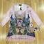 Lady Ribbon Korea LB03160516 &#x1F380 Lady Ribbon's Made &#x1F380 Lady Marlene Sweet Vintage Floral Printed and Lace Dress เดรสแขนยาวสีชมพูอ่อนพิมพ์ลายดอกไม้ตกแต่งชายลูกไม้สไตล์วินเทจ thumbnail 7
