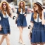 Brand Cliona made' Embroidered Denim Luxury Dress thumbnail 1